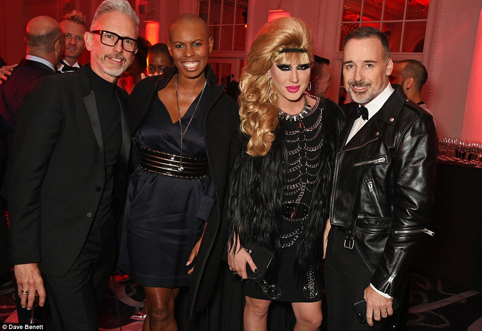 What a line up! Patrick Cox, Skin, Jodie Harsh and David Furnish (from left to right) partied together
