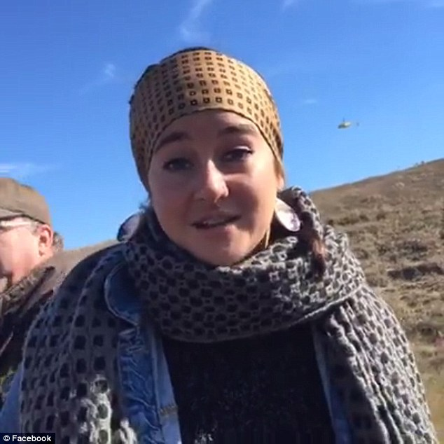 Firebrand: Shailene Woodley, 24, was the toast of many of her Tinseltown peers after she was arrested during a protest in North Dakota on Monday