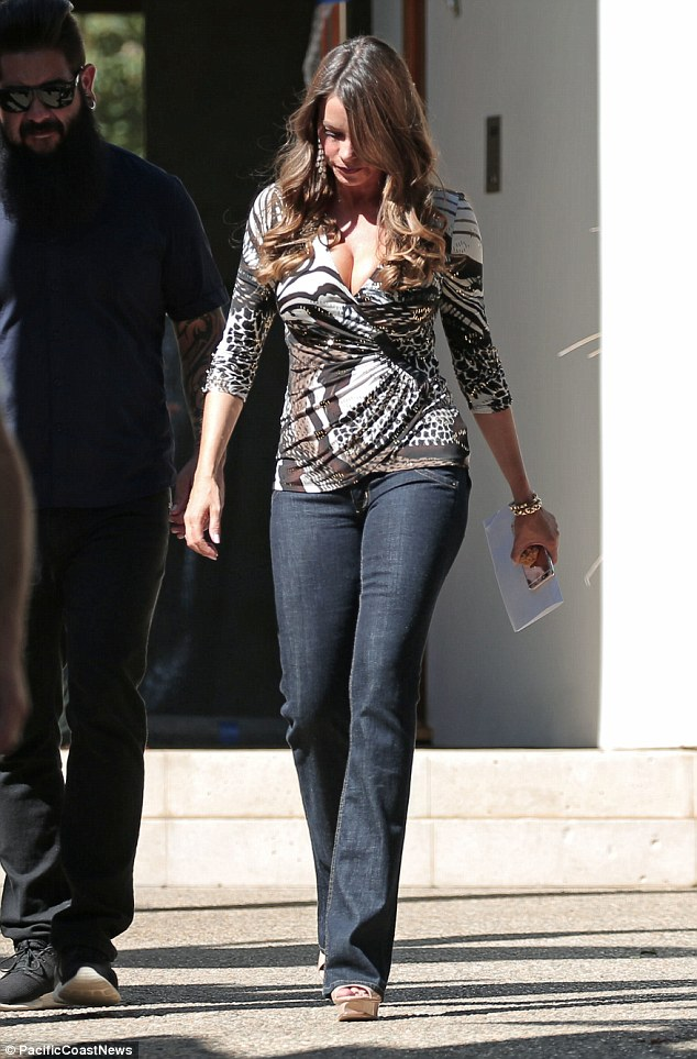 Oh la la: Sofia Vergara steamed up a scene for the latest season of Modern Family on Monday