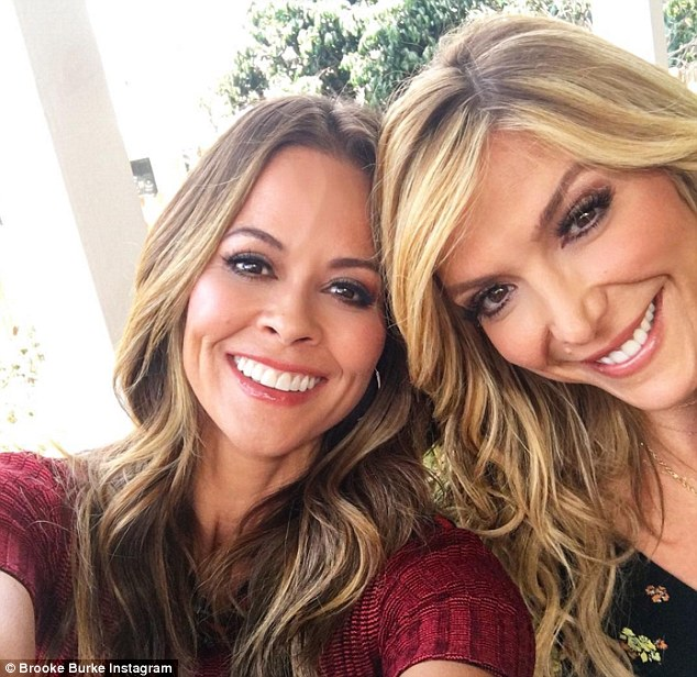 Beaming beauties:She shared an Instagram picture on Sunday while posing with Home And Family co-host Debbie Matenopoulos