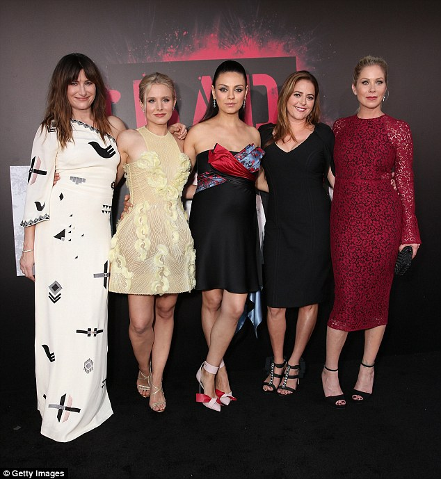 Hit: The (L-R) Kathryn Hahn, Kristen Bell, Mila Kunis, Annie Mumolo and Christina Applegate comedy was one of the year's cinema success stories, raking in $180million off a production budget of just $20million
