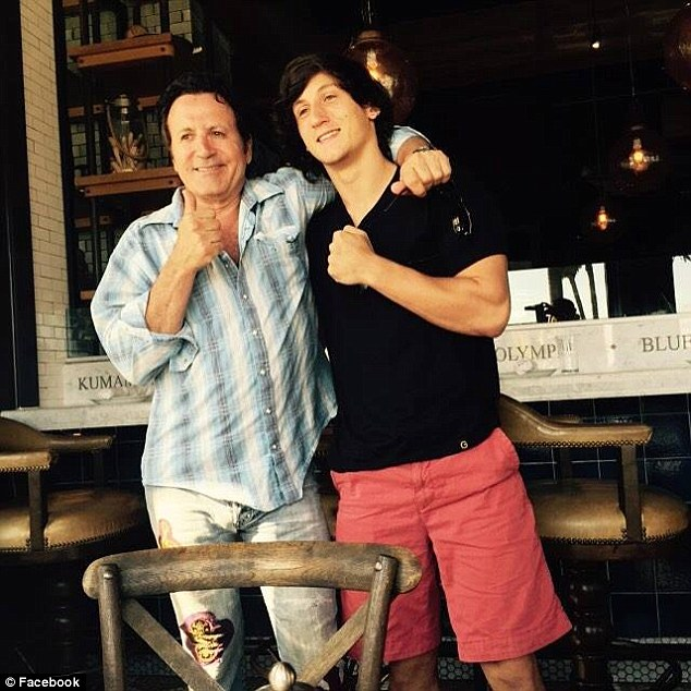 Brutal attack:Sylvester Stallone's 19-year-old half-brother Dante Stallone (right with his brother Frank Stallone) suffered brutal injuries after being viciously attacked on Saturday night near the Florida State University campus in Tallahassee