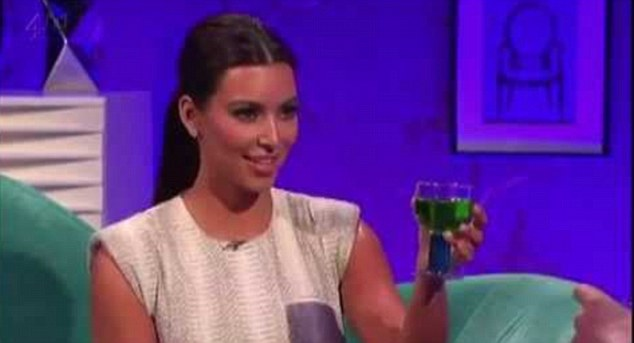 Cheers! Atop his love of Kanye, he also divulged some truths about the rapper's wife Kim Kardashian, who appeared on Chatty Man in 2012: 'I love her, she has a great sense of humour and is beautiful. They both turned up with hardly any entourage, talked about anything and then she asked me to touch her bum