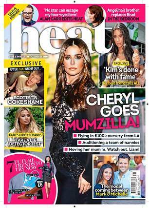 The latest issue of Heat magazine is on newstands now