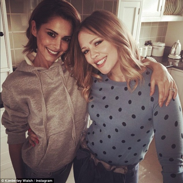 Expecting: Kimberley Walsh has revealed how excited her best friend Cheryl is for her as she prepares to welcome her second child