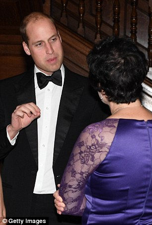Although he attended the event alone William was not without company