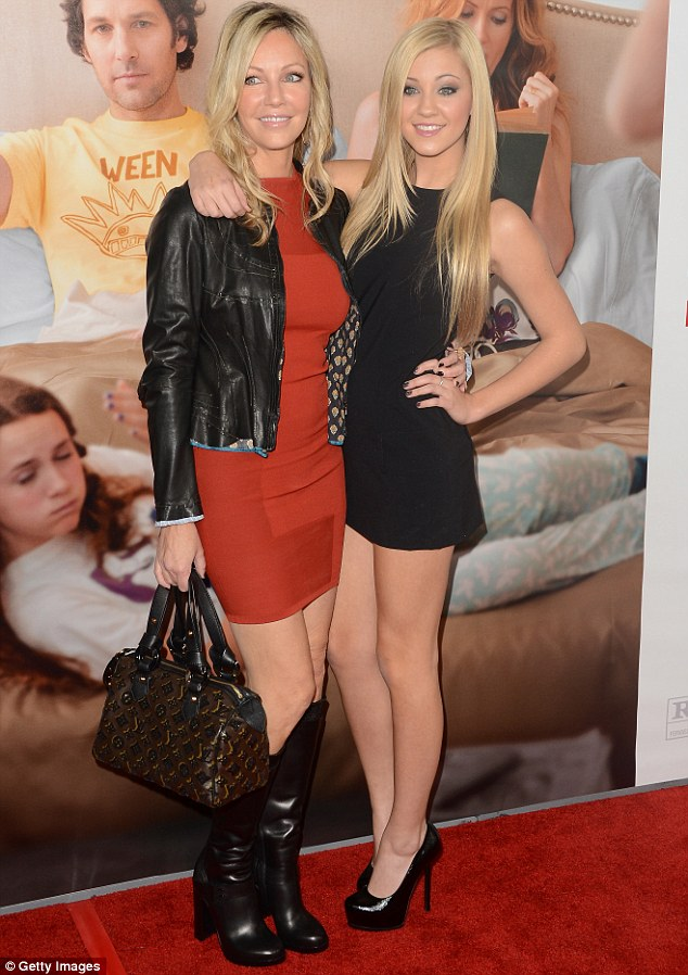 Her pretty mama:The father-of-one used to be married to Ava's mother, Heather, but the pair split in 2007; here Heather and Ava are seen in 2012