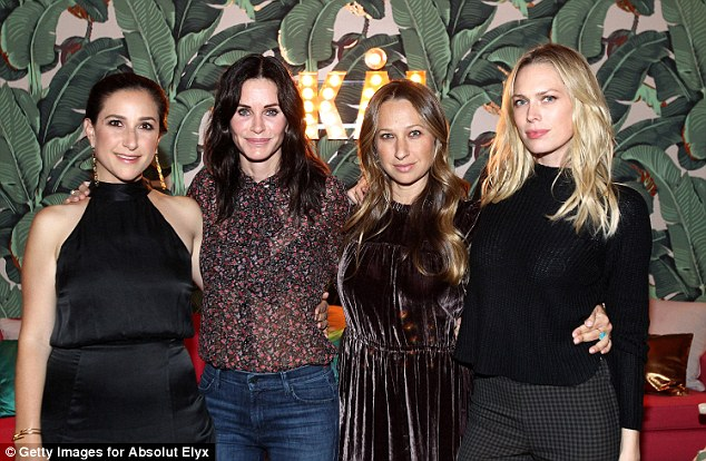 Party on: Days earlier Courteney was seen partying with Sarah Meyer, Jennifer Meyer and Erin Foster at a private residence in LA