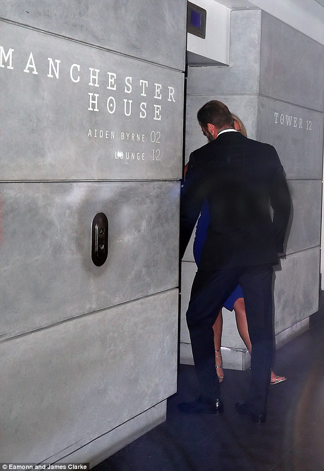 Time for dinner:He didn't last long at his own promo event though with the star seen making his exit just under an hour after he arrived and heading to  Manchester House Restaurant