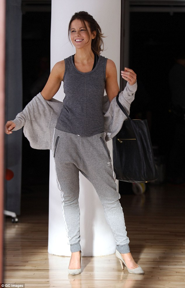 Classic beauty: She even managed to make sportswear look chic