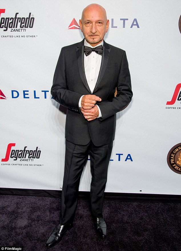 That's more like it: Sir Ben looked his usual suave self in a black tuxedo when the Friars Club honoured Martin Scorsese  at Cipriani Wall Street in New York on September 21