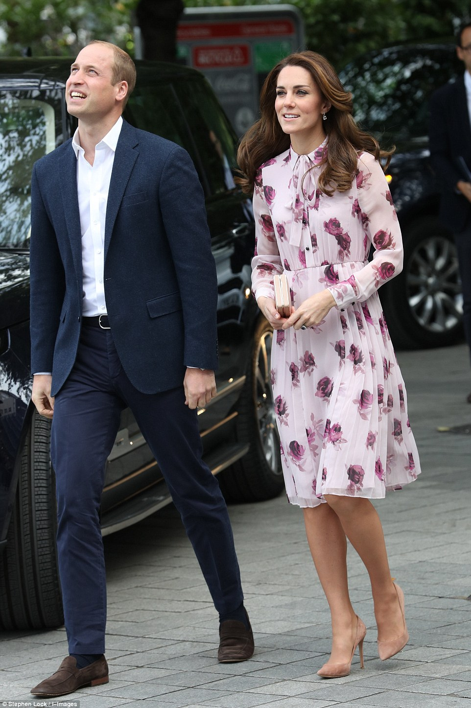 The Duke and Duchess of Cambridge and Prince Harry arriving to celebrate World Mental Health Day with a special Heads Together event at County Hall and The London Eye