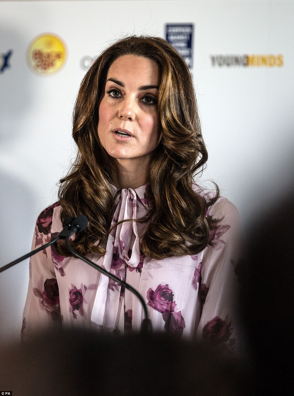 Kate revealed in a speech that she, William and Harry see it as their 'duty to shine a spotlight' on mental wellbeing