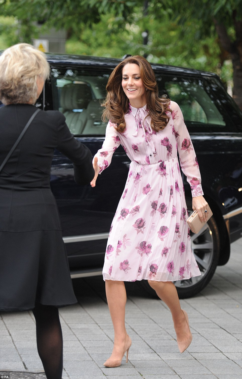 The Duchess of Cambridge arrives at County Hall on the Southbank in London, as they mark World Mental Health Day