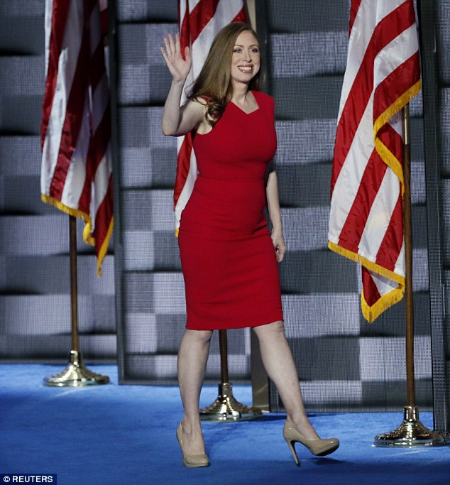 First daughter favorite? Chelsea Clinton chose to wear a Roland Mouret design at the DNC back in July