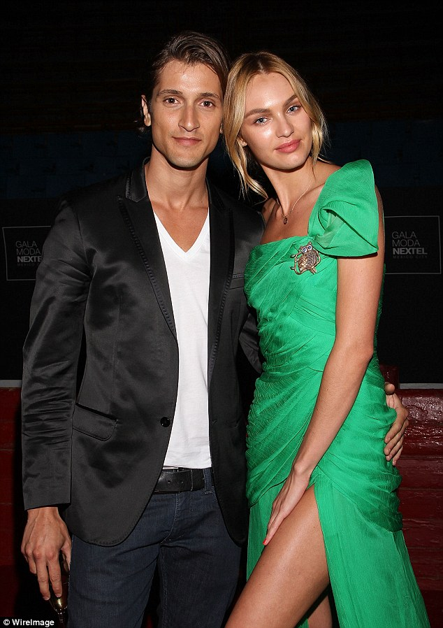It's a boy: Candice and Hermann welcomed their first child on Friday - a boy they have named Anacã