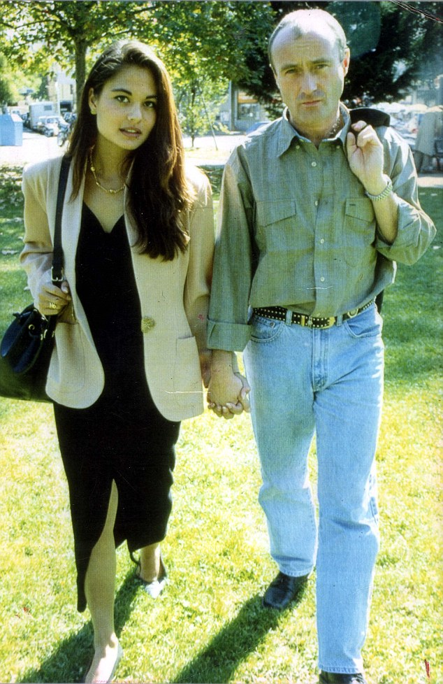 They met while Collins was playing a concert in Lausanne, Switzerland, in 1994. The couple are pictured here together in 1996