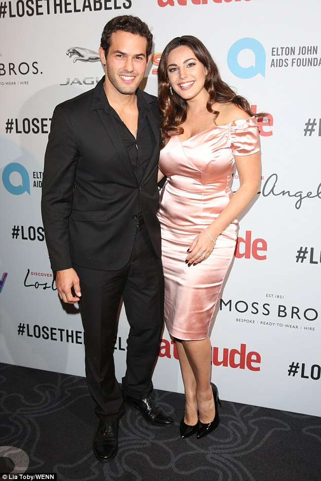 Another date night: Hours after denying claims they had secretly wed, Kelly Brook and boyfriend Jeremy Parisi enjoyed the Attitude Awards at London's 8 Northumberland Avenue