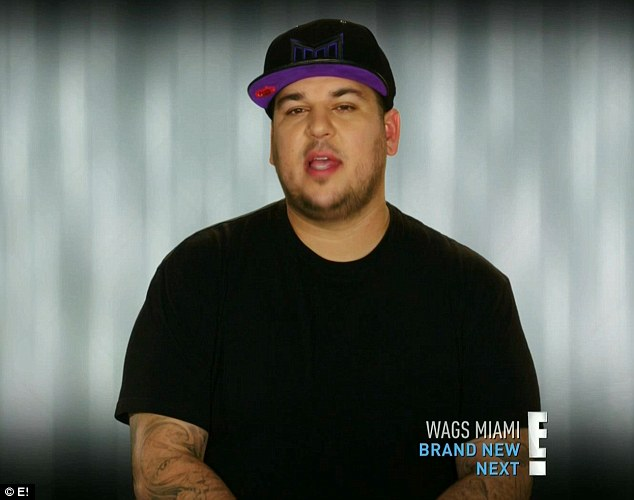 Going great: Rob Kardashian at the start of the show said things were going great with him and Chyna