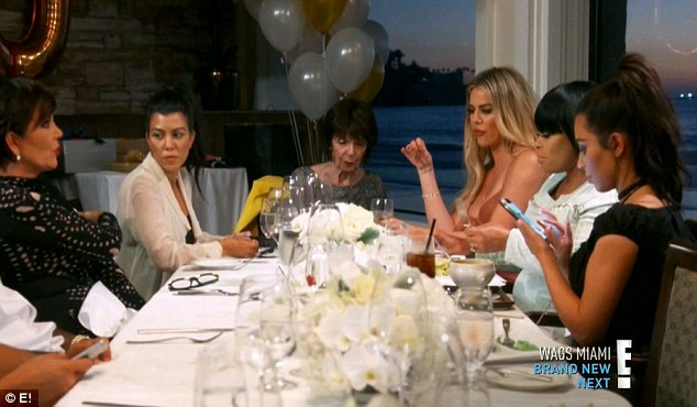 Birthday dinner: Chyna went down to San Diego to celebrate Rob's grandmother MJ's birthday with his family