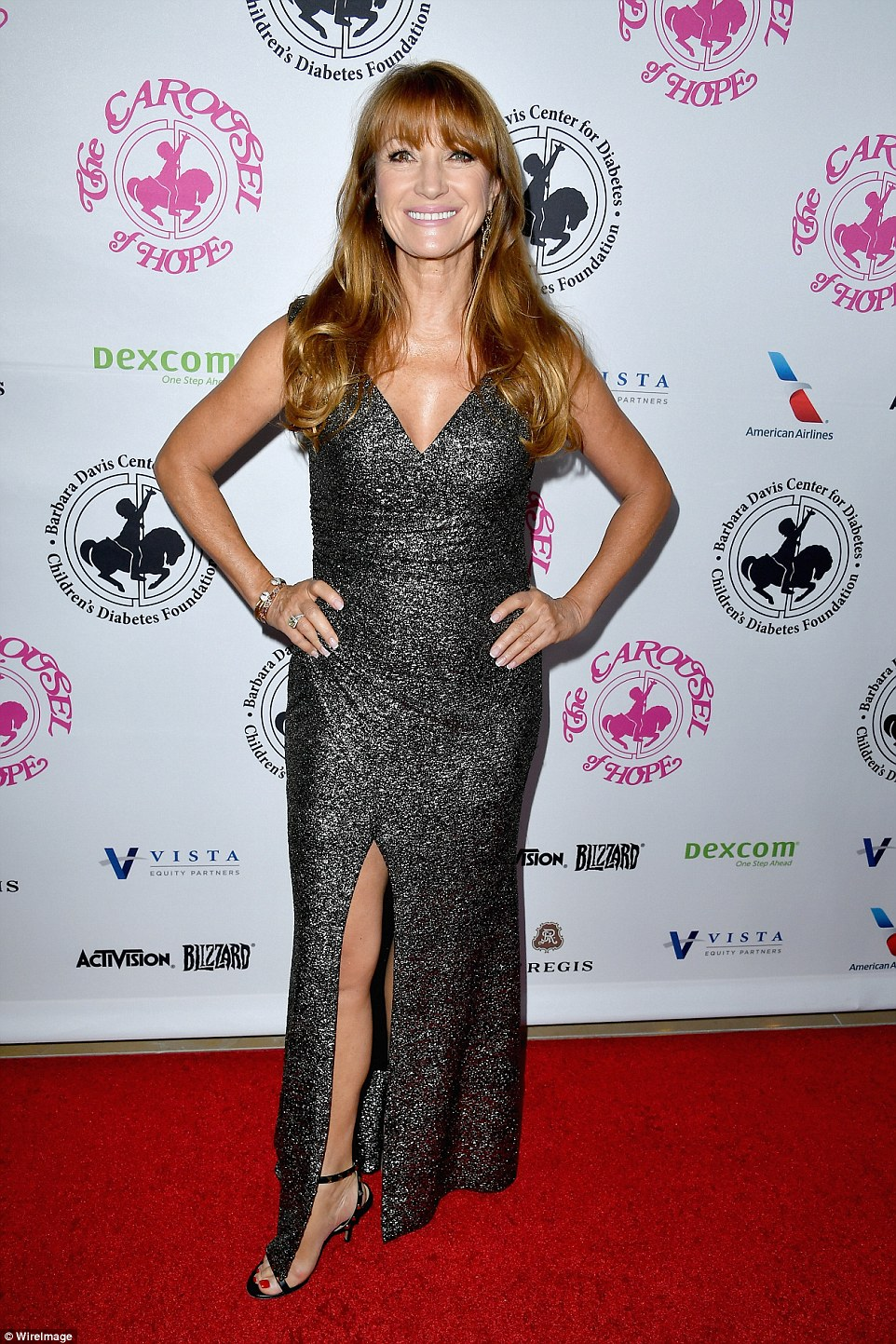 Actress Jane Seymour showed off her honed figure at the 2016 Carousel Of Hope Ball at The Beverly Hilton Hotel on Saturday