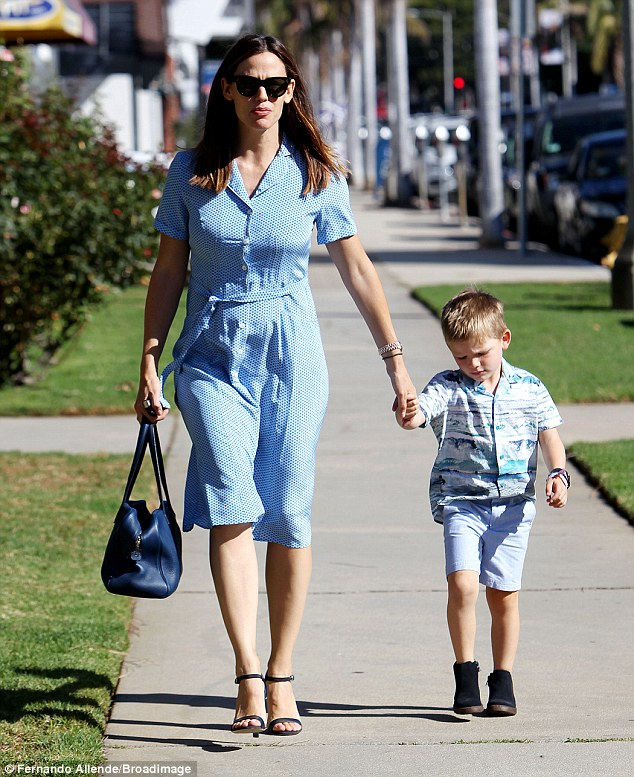 On Sunday, Jennifer Garner was spotted taking her children to church in the Pacific Palisades