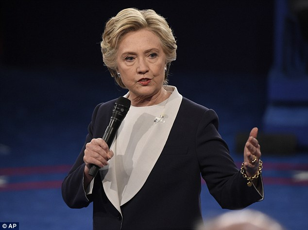 Democratic presidential nominee Hillary Clinton speaks during the second presidential debate at Washington University in St. Louis, Sunday