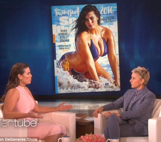 Role model: During an interview on The Ellen DeGeneres Show in February Ashley discussed her appearances in Sports Illustrated and the pressure placed on young models