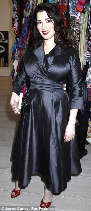 Fuller figure: Nigella displayed a fuller figure when she stepped out in 2009