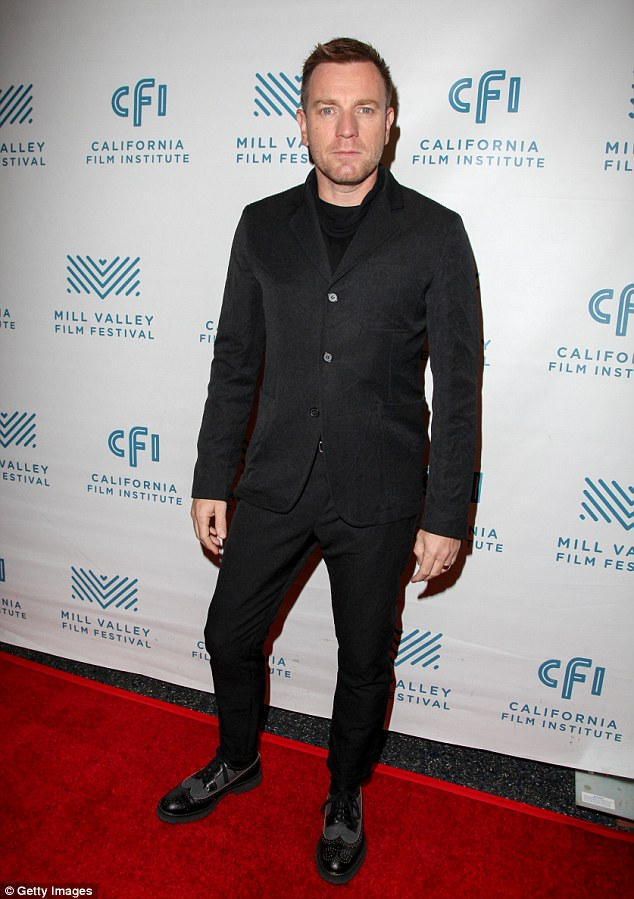 Man with the plan: Ewan McGregor was also in attendance at a different event as part of the Mill Valley Film Festival