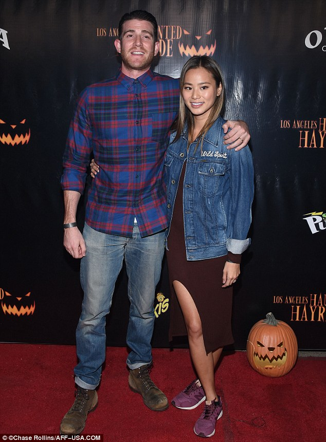 Loved up: The Hangover Part II actress was not alone for the occasion as she was joined by husband Bryan Greenberg
