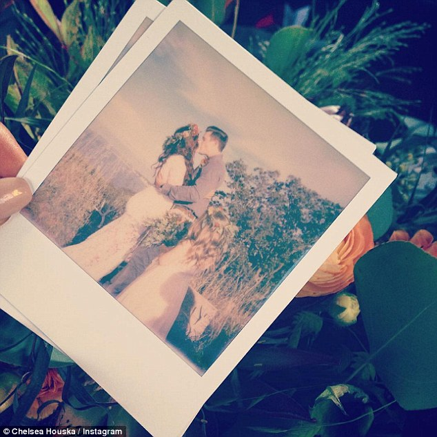 Country wedding: The 28-year-old reality star and fiancé Cole DeBoer tied the knot on Saturday as she posted this Instagram snapshot simply captioned: 'Mr & Mrs DeBoer'