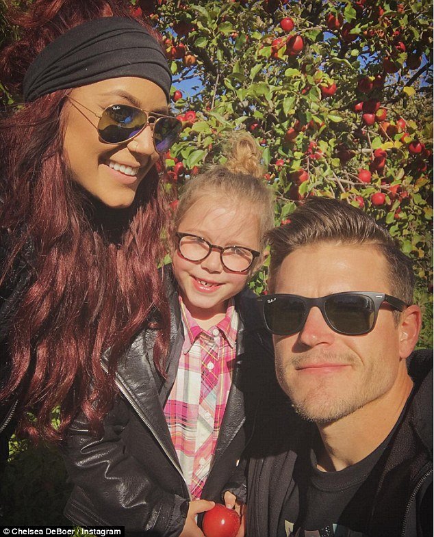 Growing family: Chelseais already mother to seven-year-old daughter Aubree from a previous relationship