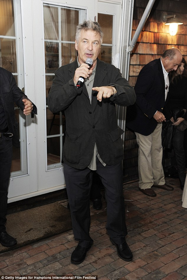 Never at a loss for words: The Long Island native takes the mic at the well-heeled function