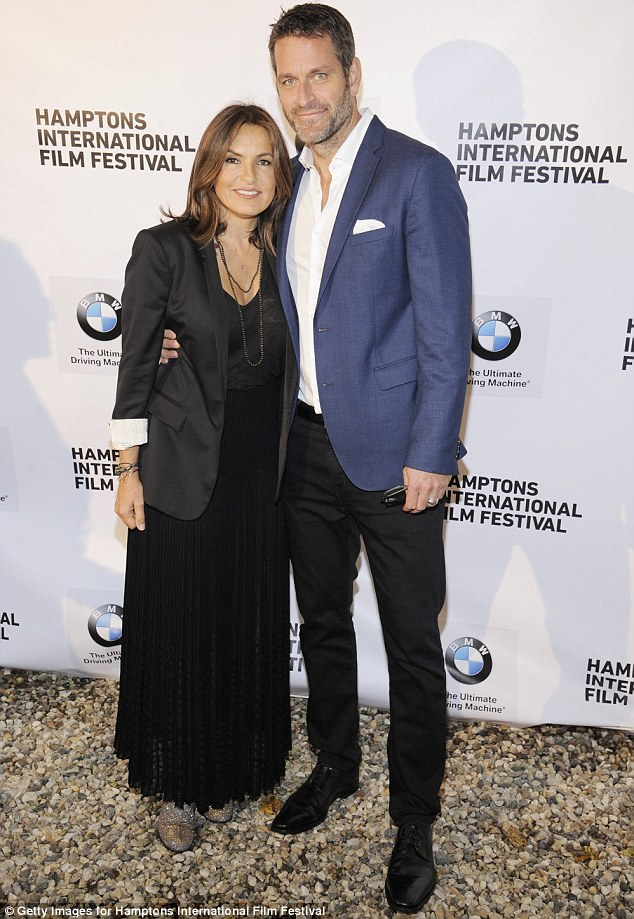 Date night: Law & Order: Special Victims Unit star Mariska Hargitay was joined by husband of 12 years Peter Hermann
