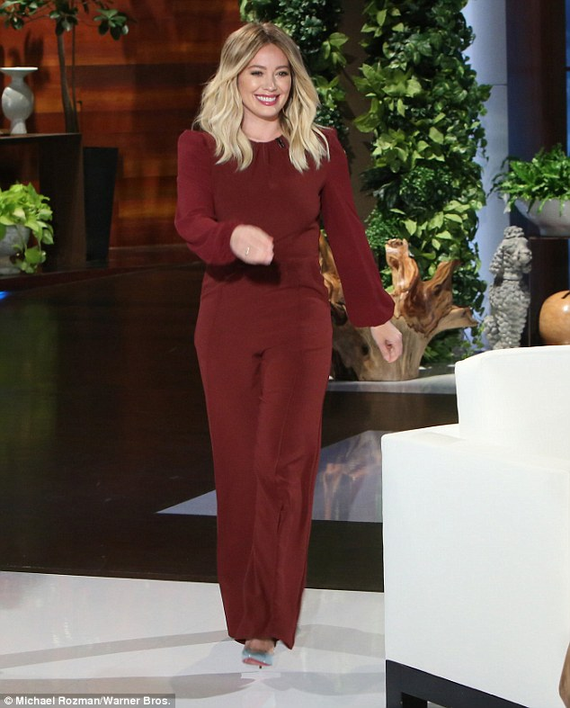 Phone story: Hilary Duff during an appearance on The Ellen DeGeneres Show on Monday sought out the people who retrieved her lost cell phone