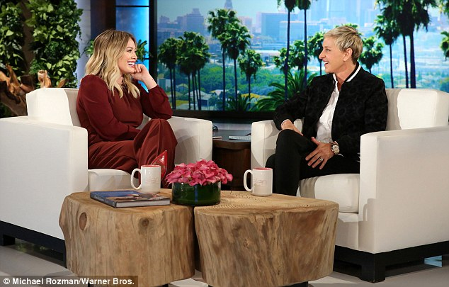 Chat show: Ellen DeGeneres asked Hilary if she was worried about her phone getting in the wrong hands