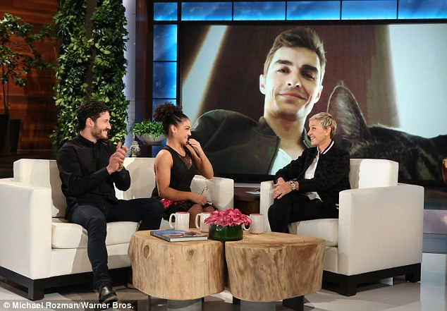 Celebrity crush: Dave Franco appeared via video after Laurie revealed that he's her celebrity crush