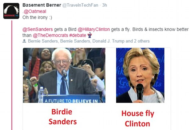 It wasn't long before Twitter was full of wisecracks about the fly