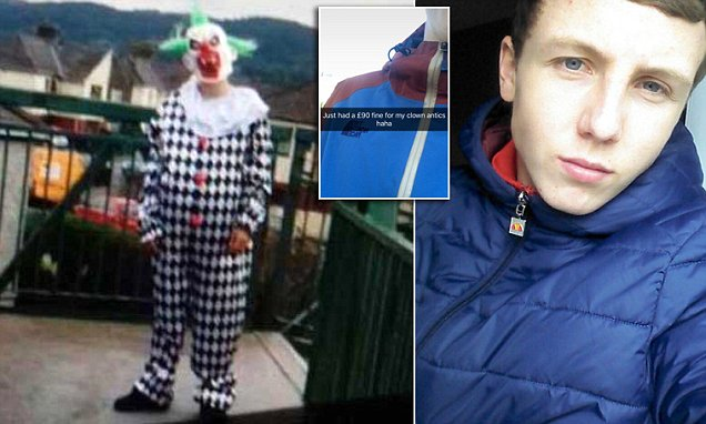 Brunel University fresher terrifies students dressed as a clown with a chainsaw
