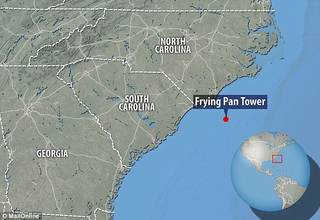 The Frying Pan Tower is completely isolated and Mr Neal had to tell the Coast Guard that he did not expect to be rescued should anything happen to him or his platform