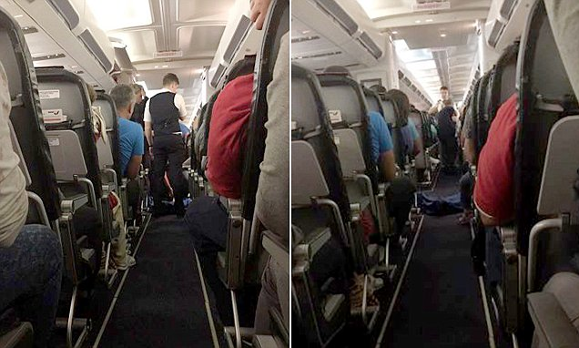 Shocked passengers sit alongside a DEAD BODY after diabetic passenger dies during flight