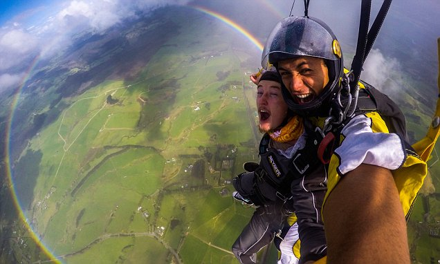 New Zealand skydive leads to breathtaking photos showing an extremely rare circular
