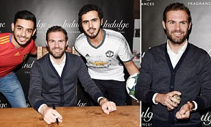 Manchester United's Juan Mata takes break from preparing for Liverpool clash to launch