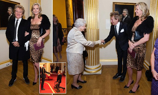 Rod Stewart receives Knighthood from Prince William