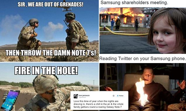 Samsung Galaxy Note 7 mocked on Twitter after company axes 'explosive' product