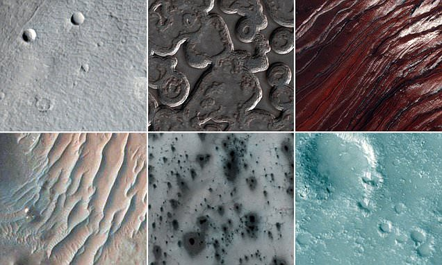 From frozen poles to massive canyons: New images of Mars reveal the planet's surface in