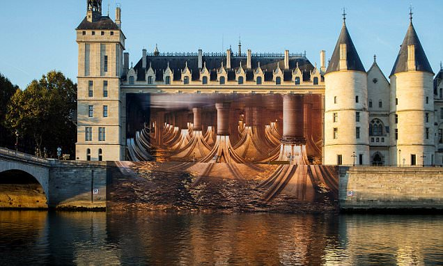 Can you make sense of it? Ancient Parisian palace is flipped 'upside down' in vast optical