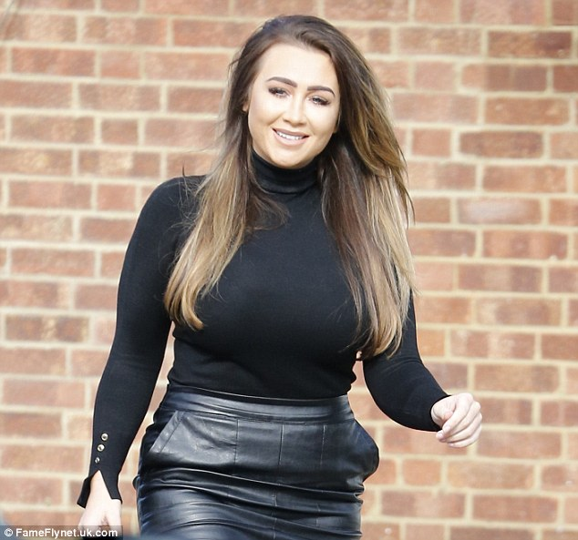 Low key Lauren:A seasonal black roll neck completed a sophisticated look for the buxom star