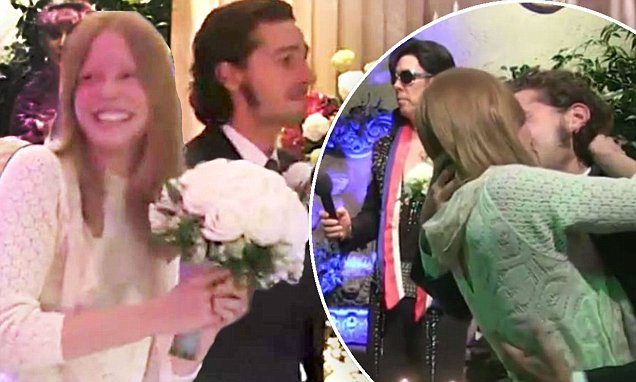 Shia LaBeouf marries girlfriend Mia Goth in Las Vegas ceremony with Elvis